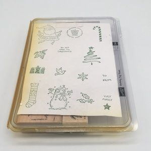 Stampin' Up! Set of 13 stamps Holiday Tag Team